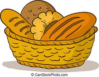 バスケット, bread
