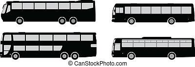 バス, シルエット