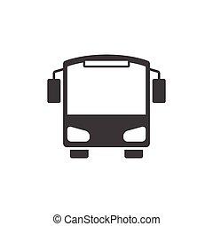 バス, ベクトル, アイコン