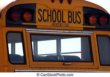 バス, 学校, 印