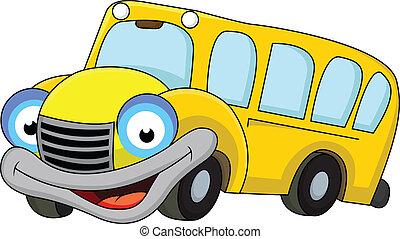 バス, 学校, 漫画