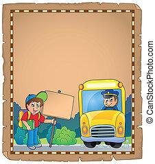 バス, 学校, 羊皮紙, 3