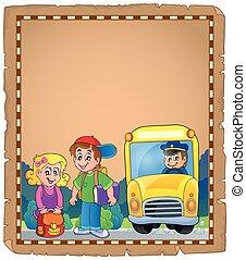 バス, 学校, 羊皮紙, 4
