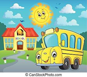 バス, 学校, 2, イメージ, thematics
