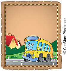 バス, 学校, 2, 羊皮紙