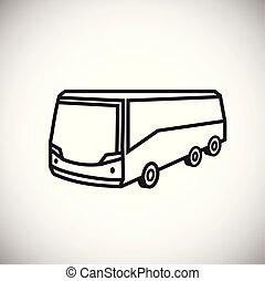 バス, 旅行, 薄くなりなさい, 背景, 白いライン