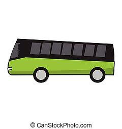 バス, 漫画, 観光客, 隔離された