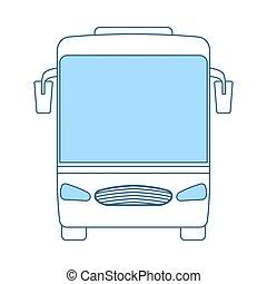 バス, 観光客, アイコン
