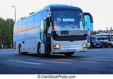 バス, 観光客, 駐車
