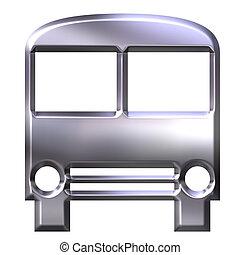 バス, 銀, 3d
