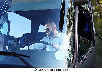 バス, driver.