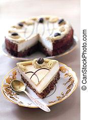 バター, カプチーノ, ビスケット, チョコレートケーキ, クリーム