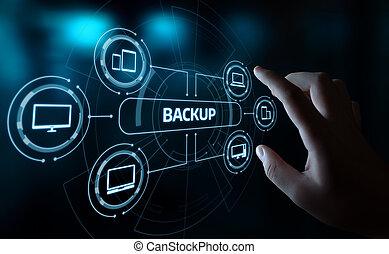 バックアップ, 貯蔵, データ, インターネット技術, ビジネス 概念