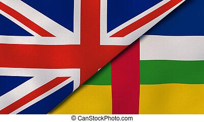 バックグラウンド。, アフリカ, ニュース, 旗, 合併した, ビジネス, 中央である, 王国, republic., ...