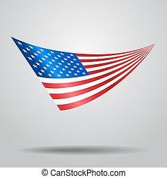 バックグラウンド。, アメリカ人, ベクトル, 旗, illustration.