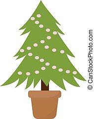 バックグラウンド。, イラスト, 木, ベクトル, 白い クリスマス