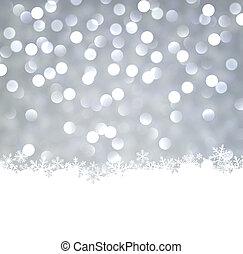 バックグラウンド。, クリスマス, 銀