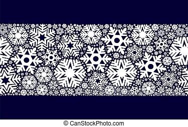 バックグラウンド。, クリスマス, 雪片, seamless, 装飾, デザイン, 青
