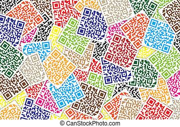 バックグラウンド。, コード, qr, ∥など∥., 速く, インターネット商業, 応答, 店, 多色刷り, スーパーマーケット