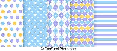 バックグラウンド。, スクラップブック, pattern., 幾何学的, seamless, illustration., ベクトル, prints.