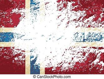 バックグラウンド。, ノルウェー語, グランジ, 旗