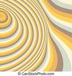 バックグラウンド。, パターン, 抽象的, 渦巻, 光学, illusion.