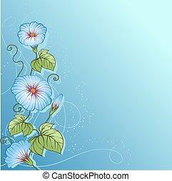 バックグラウンド。, ベクトル, デザイン, 花, 流行, 花