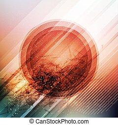 バックグラウンド。, ベクトル, 未来派, イラスト, 円