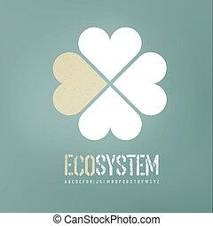 バックグラウンド。, ベクトル, 概念, エコロジー, eps10