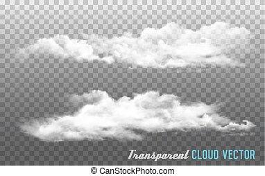 バックグラウンド。, ベクトル, 雲, 透明