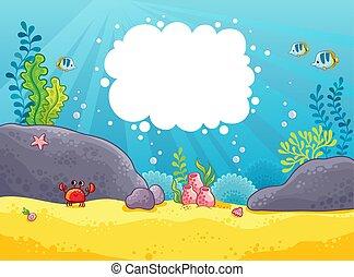 バックグラウンド。, ベクトル, illustration., 海