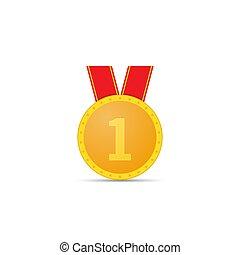 バックグラウンド。, メダル, 金, 白