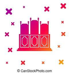 バックグラウンド。, 任意である, shapes., 勾配, 椅子, テーブル, 色, ベクトル, アイコン, 部屋, court's, icon., 動的, 隔離された, 白, イラスト