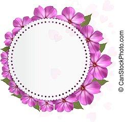 バックグラウンド。, 休日, ベクトル, 花