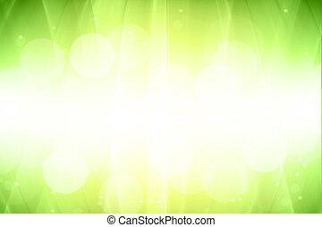 バックグラウンド。, 勾配, 抽象的, 緑, ぼんやりさせられた