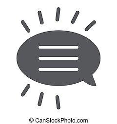 バックグラウンド。, 印, パターン, 固体, ベクトル, スピーチ, チャット, グラフィックス, アイコン, メッセージ, 対話, 泡, 白, glyph