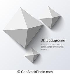 バックグラウンド。, 幾何学的, 抽象的, 3d
