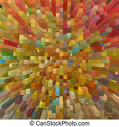 バックグラウンド。, 形, 広場, 幾何学的, 多彩