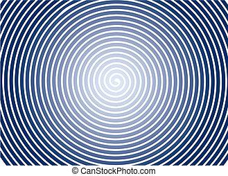 バックグラウンド。, 抽象的, らせん状に動きなさい, vector.