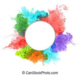 バックグラウンド。, 抽象的, アクリル, 色, water.