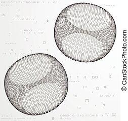 バックグラウンド。, 抽象的, ピクセル
