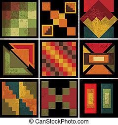 バックグラウンド。, 抽象的, ベクトル, 古代, イラスト