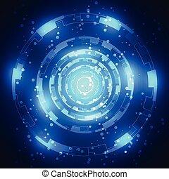 バックグラウンド。, 抽象的, ベクトル, 技術の 実例