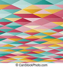 バックグラウンド。, 抽象的, ベクトル, 白, 三角形