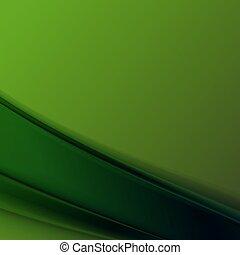 バックグラウンド。, 抽象的, ベクトル, 緑, イラスト