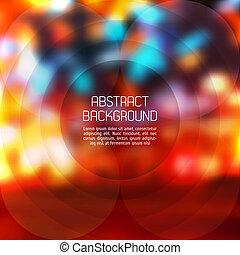 バックグラウンド。, 抽象的, ベクトル, blurry, ライト