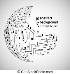 バックグラウンド。, 抽象的, ベクトル, eps10