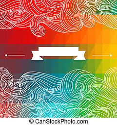 バックグラウンド。, 抽象的, 幾何学的, カード