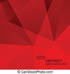 バックグラウンド。, 抽象的, 幾何学的, 赤