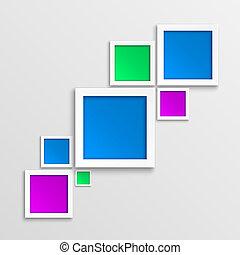 バックグラウンド。, 抽象的, 幾何学的, 3d